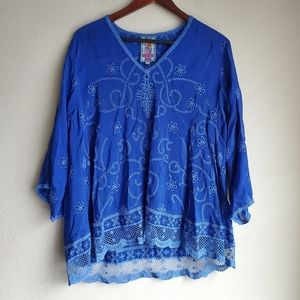 Johnny Was Charming Tunic size M NWT
